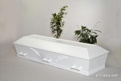 Hvid kiste m. palmegrene nr.6/9 P