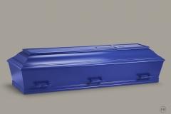 Kiste, blå m. let buet låg nr. 15