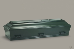 Kiste, grøn m. let buet låg nr. 15